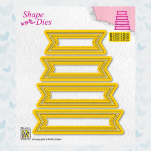 Nellies Choice Shape Die - set van 4 Tags nr 1 - SD202