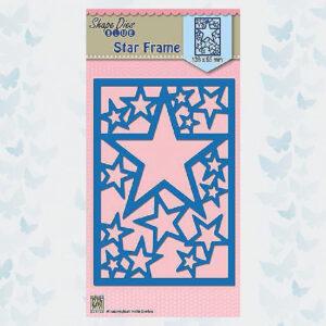 PROMO Nellies Choice Achtergrond Snijmal Star Frame SDB054