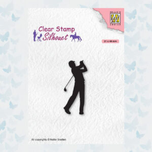 Nellies Choice Clearstempel - Silhouette Golfer SIL069