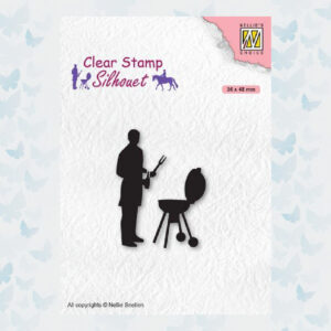 Nellies Choice Clearstempel - Silhouette Barbecue SIL071