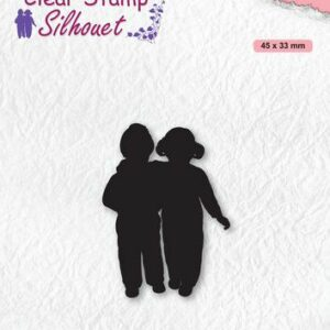 Nellies Choice Clearstempel - Silhouette Hechte vrienden SIL075