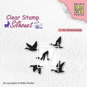 Nellies Choice Clearstempel - Silhouette Vogels SIL081