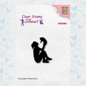 Nellies Choice Clearstempel - Silhouette Teenagers - Kat SIL090