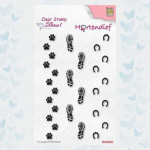 Nellies Choice Clear Stempel - Silhouette Pets - Voetafdrukken SIL095