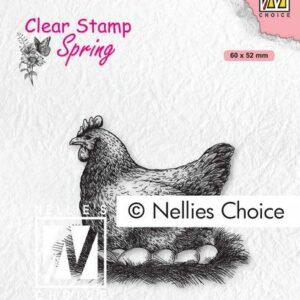 Nellie's Choice Clearstempel - Moeder kip SPCS019