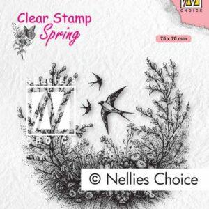 Nellie's Choice Clearstempel - Lente SPCS016
