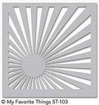 My Favorite Things Sunrise Radiating Rays Stencil (ST-103)