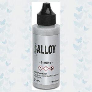 Ranger Alcohol Ink Alloys Sterling 59 ml TAG77404 Tim Holtz