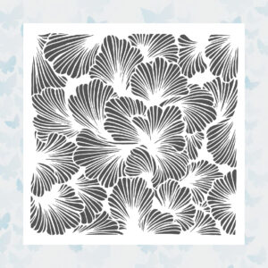 The Crafter's Workshop Lush Petals 6x6 Inch Stencil (TCW924s)