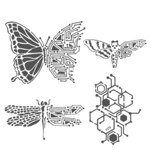 The Crafter's Workshop Nature's Circuitry Stencil (TCW925s)