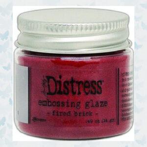 Ranger Distress Embossing Glaze Fired Brick TDE70979