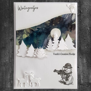 Nellies Choice Clearstamp - Winter Time Sneeuwpop 5 WT009