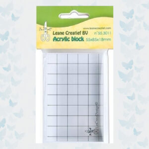 Leane Creatief Acrylic clear stamp block 55.3011