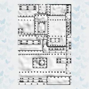 Sizzix 3D Texture Fades Embossing Folder - Mini Foundry 665634 Tim Holtz