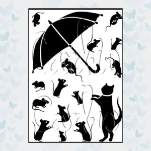 Card-io Clear Stamps Taking Cover CCSTTAK-01