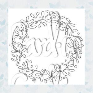 Card-io MajeMask Mistletoe Wreath