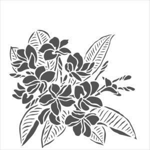 The Crafter's Workshop Plumeria Stencil (TCW914s)