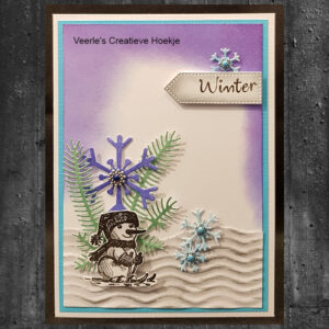 Nellies Choice Clearstamp - Winter Time Sneeuwpop 6 WT010